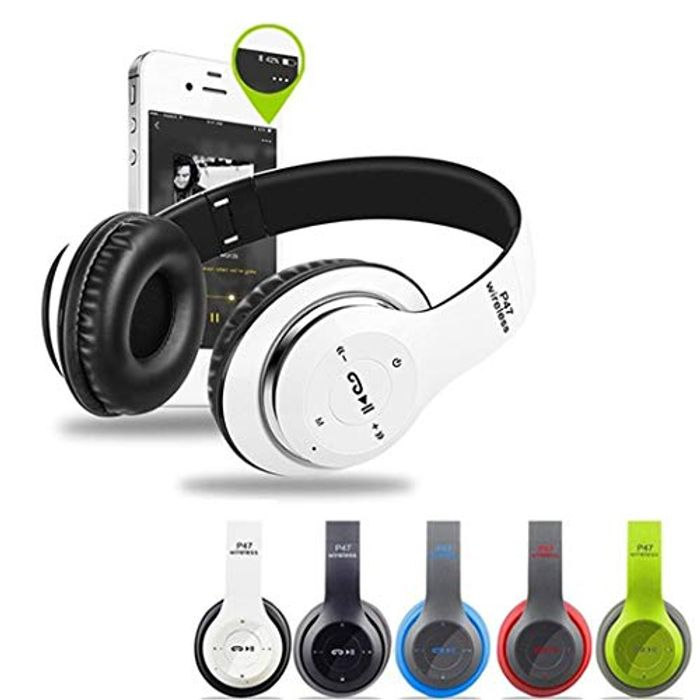Rechargeable Bluetooth Foldable Headphones - Just £5.79 with Free Delivery