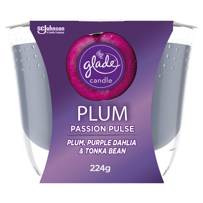 50% Off Glade Candle Plum Passion Pulse 224G