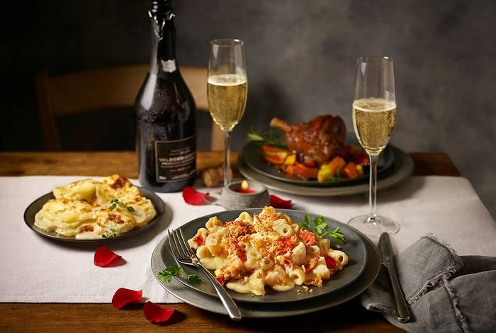 Tesco Finest Valentines Menu for Two with Wine