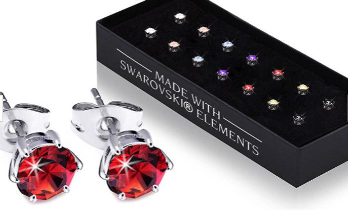 7 Swarovski Crystal Earrings + EXTRA 10% Off