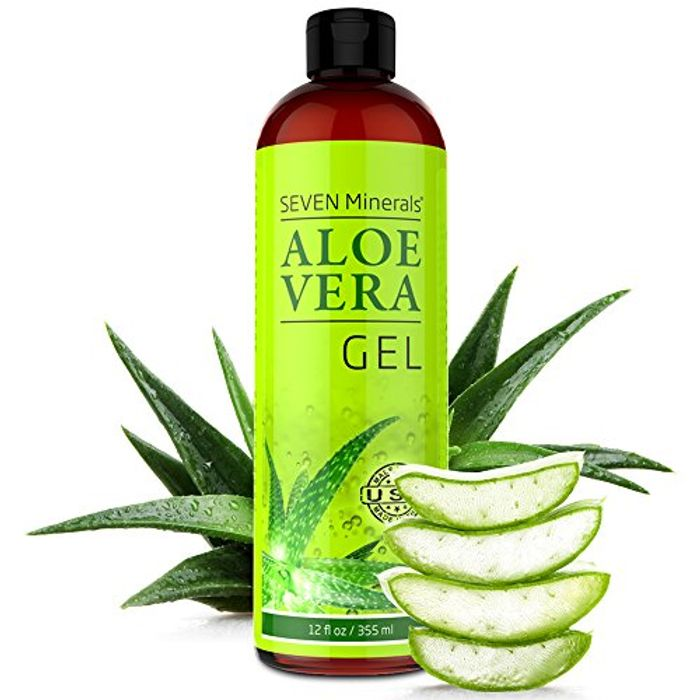 Organic Aloe Vera Gel with 100% Pure Aloe from FRESHLY CUT Aloe Plant,