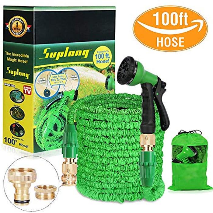 Water Hose Pipe Garden Hose Expandable 3 times Expandable Hose 100ft