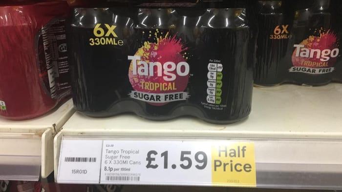 6x Tango Strawberry & Watermelon / Tango Orange / 7-up Free / Tango Tropical