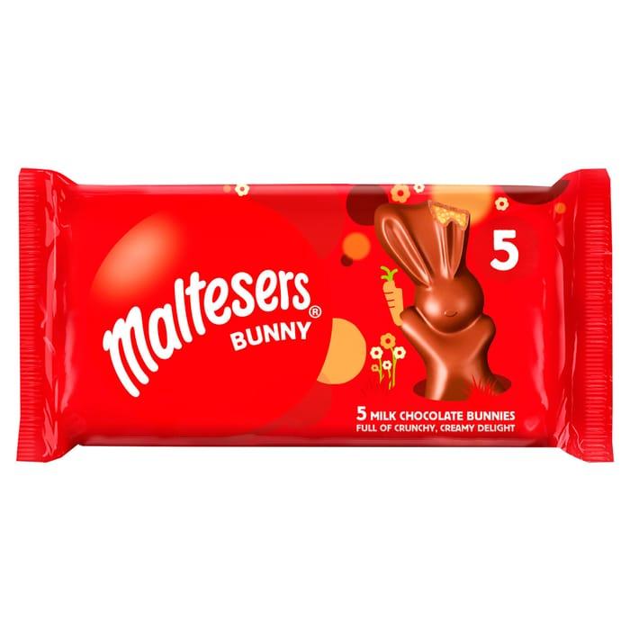 Malteaser Bunny 5 Pack 145G - Buy 2 Packs for £1.50