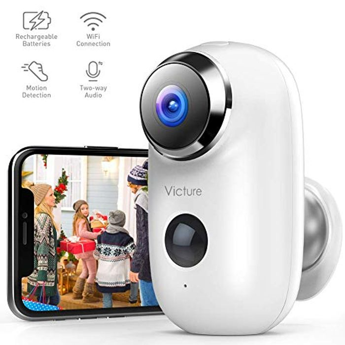Victure 1080P Outdoor Rechargeable Battery Security Camera