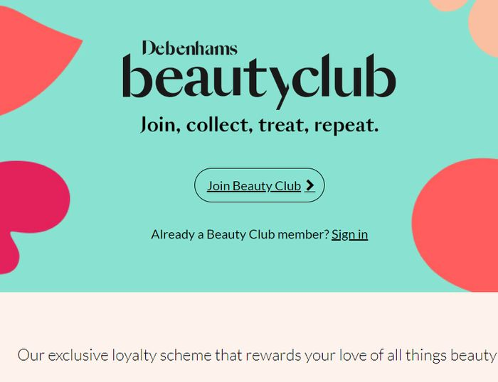 Join The Debenhams Beauty Club And Get Free Samples & Birthday Treats!