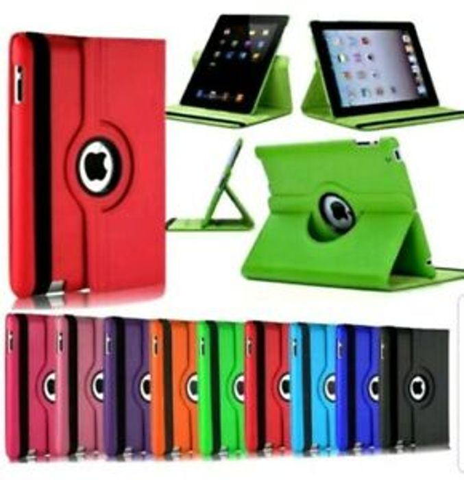 For Apple iPad 9.7 2018 (6th Generation) 360 Rotating Leather Smart Case Cover