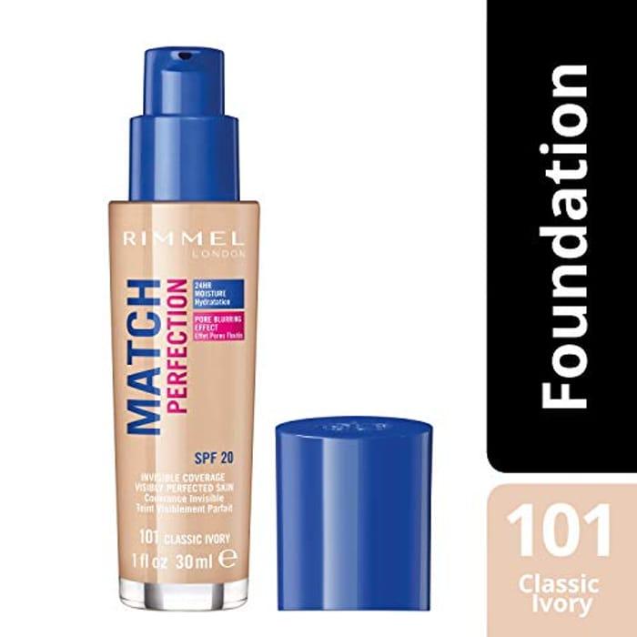 Rimmel London Match Perfection Liquid Foundation - 101 Classic Ivory