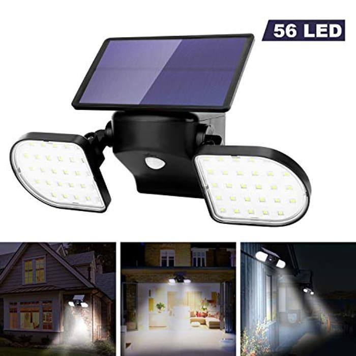 Outdoor Lights Solar Powered 56 LED Solar Lights Motion Sensor