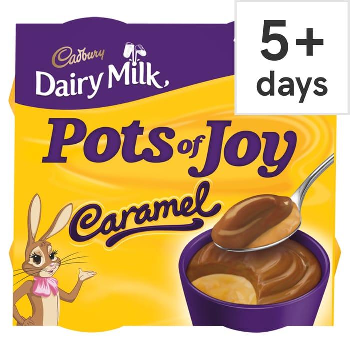 Cadbury Dairy Milk Pot of Joy Caramel Dessert 4Pack 260G Turkish Delight Also