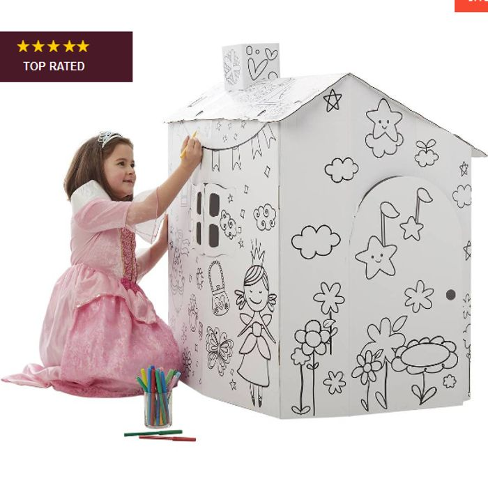 Colour in Cardboard Playhouse 92cm