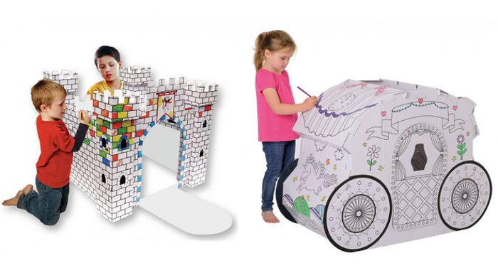 Half Price Colour in Cardboard Playhouses at Hobbycraft