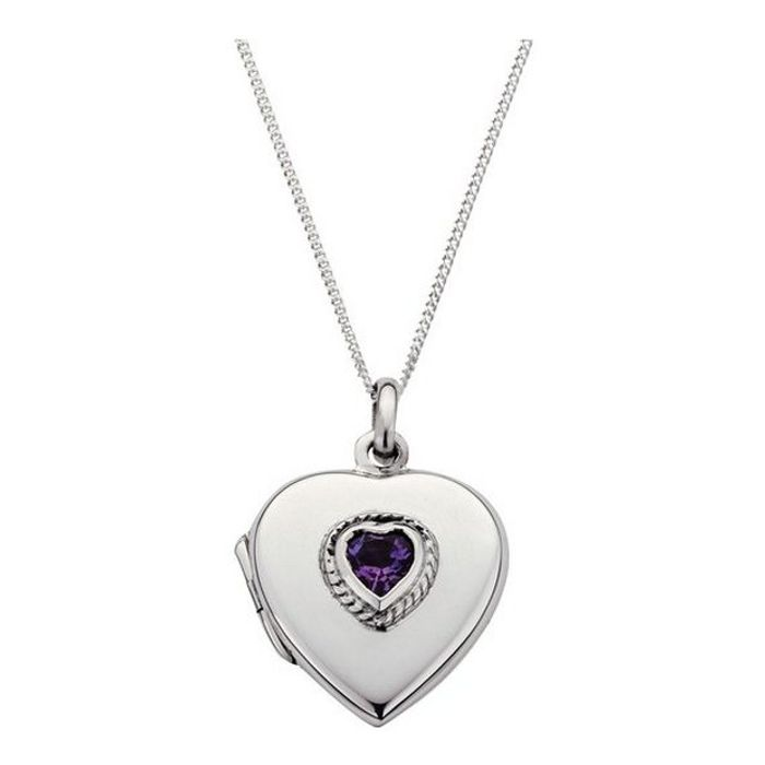 Cheap Moon & Back Silver 2 Photo Locket 18 Inch Necklace at Argos