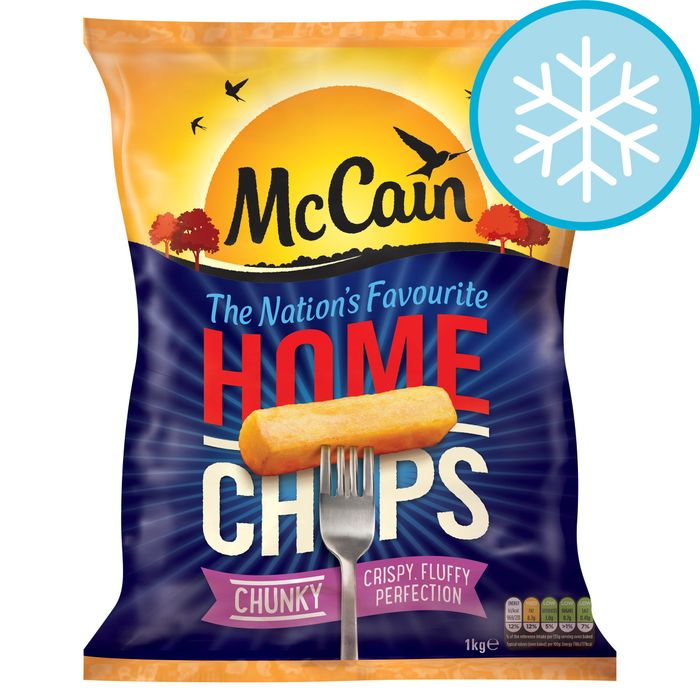 Mccain Extra Chunky Home Chips 1Kg - HALF PRICE!