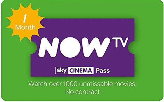 NOW TV - 1 Months Sky Cinema Pass - Save £10.99!