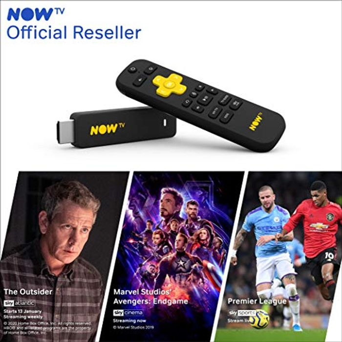 NOW TV Smart Stick Loaded with 1 Month Entertainment Pass + Sky Cinema + Sports