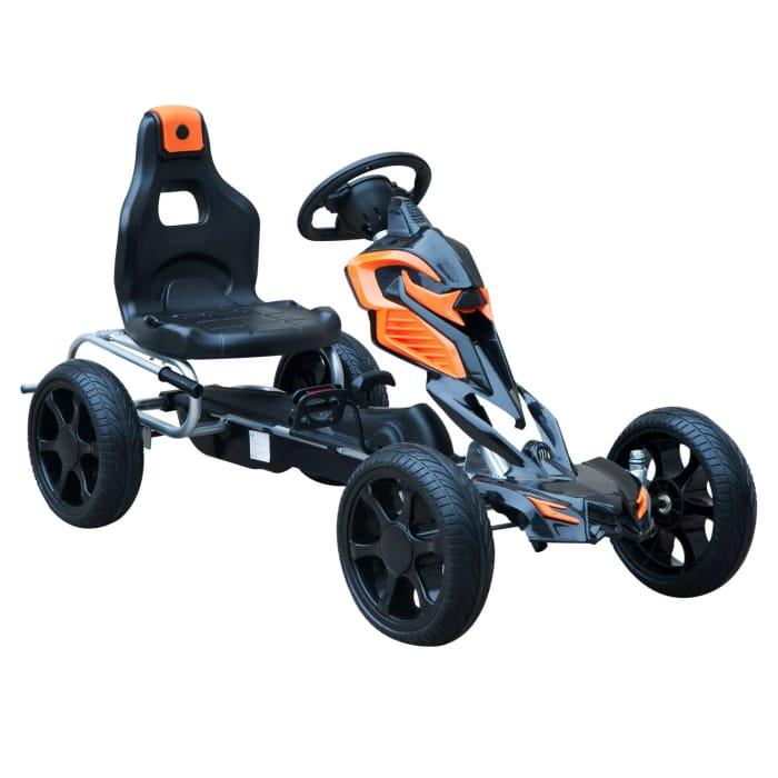 Pedal Go Kart W/EVA Wheels-Orange/Black