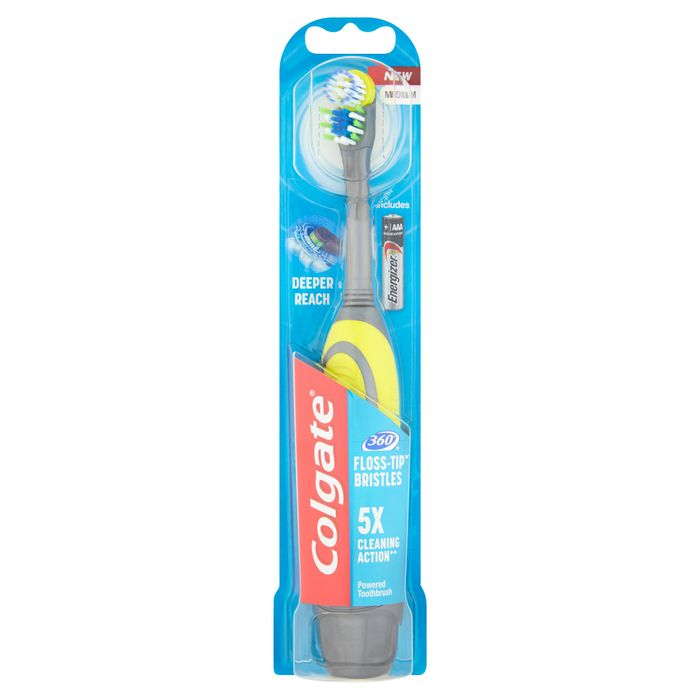 Cheap! Colgate Battery Toothbrush - 360 Floss Tip On Sale From £9 to £4.5