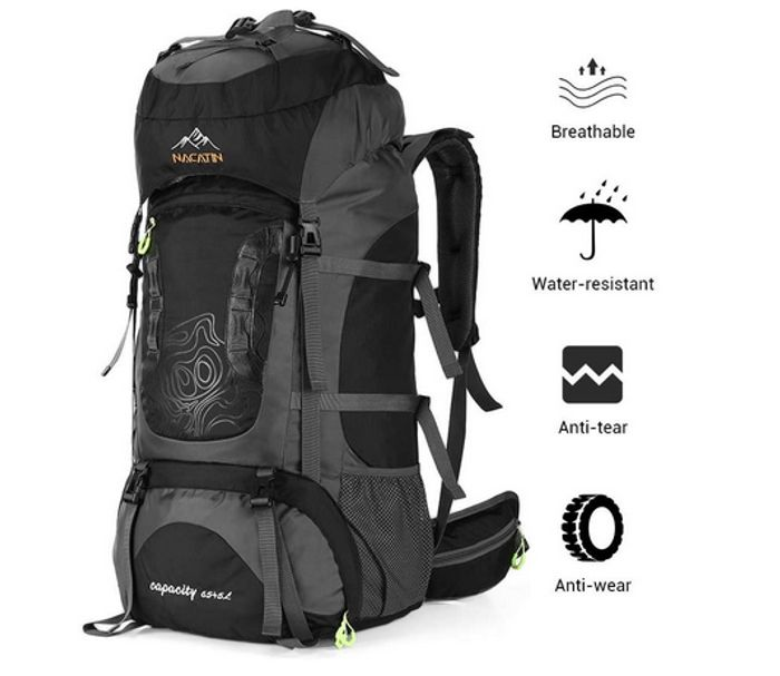 NACATIN Trekking Rucksack, Hiking Backpack 70L