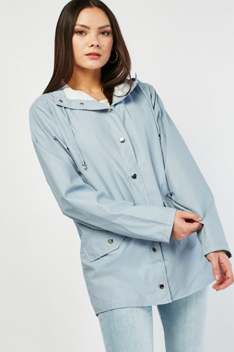 Hooded Rain Mac Jacket