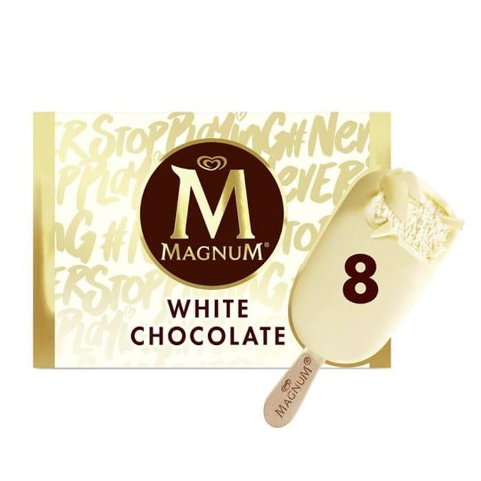 Best Price! Magnum White Chocolate Ice Cream & Classic 8X110ml at Tesco