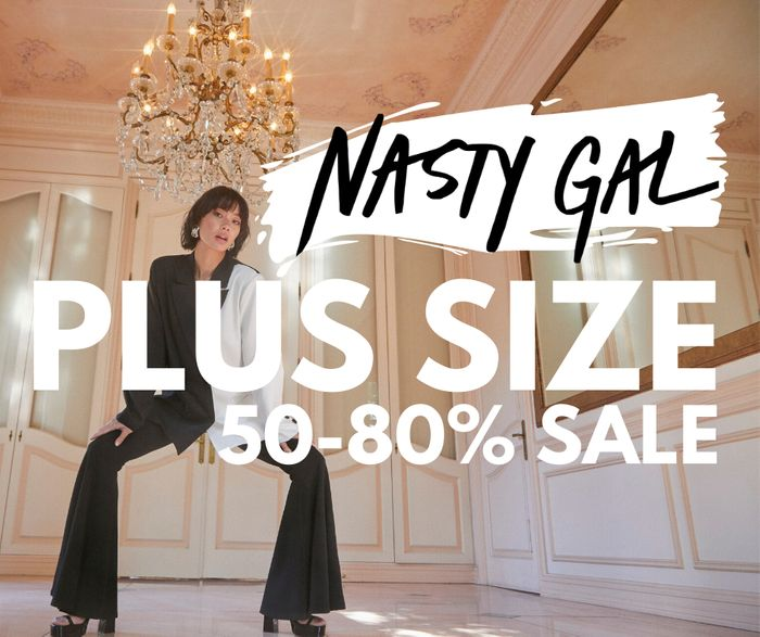 Plus Sized Clothes From Only £3! Up to 80% Sale at Nasty Gal