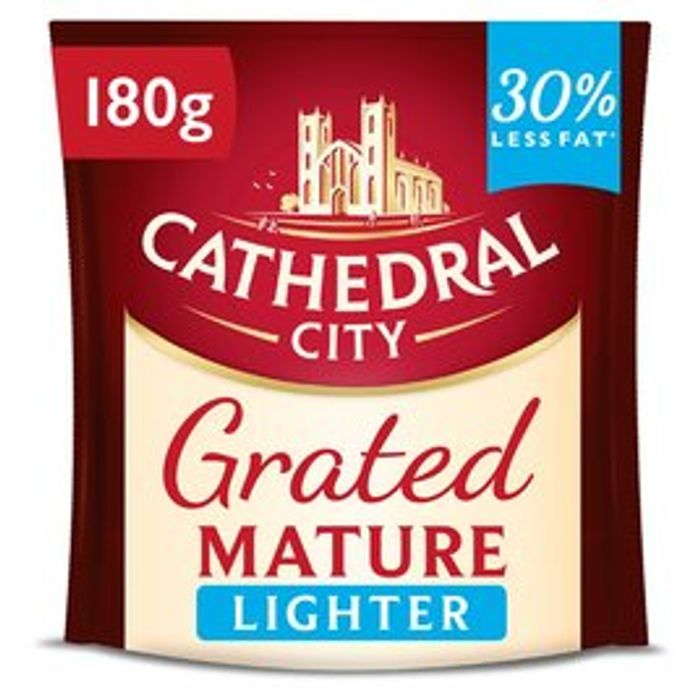 Cathedral City Grated Lighter or Mature Cheese 180g