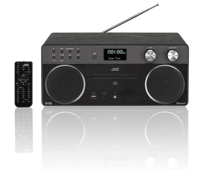*SAVE £20* JVC Wireless Bluetooth Hi-Fi System with DAB / FM Radio - Black