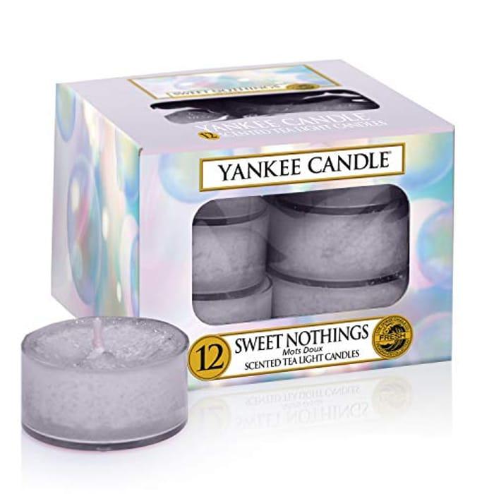 Yankee Candle Sweet Nothings Tea-Lights, Wax, Purple, 8.4 X 8.4 X 6.1 Cm