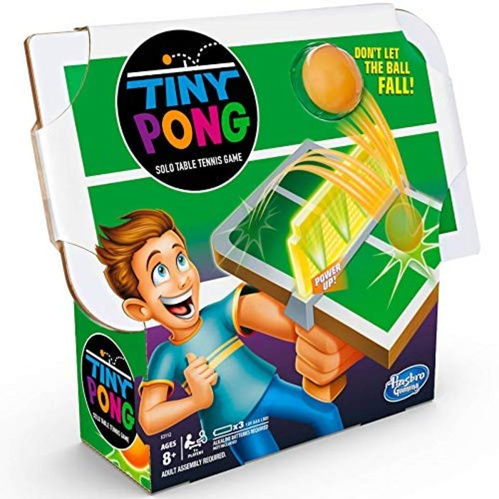 Best Ever Price! Tiny Pong Solo Table Tennis Kids Electronic Handheld Game
