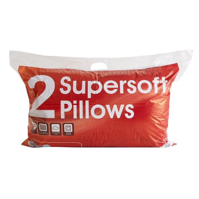 50% Off Supersoft Pillow Pair