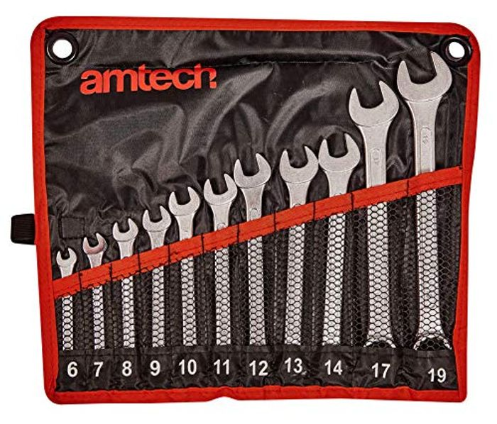 Amtech Drop Forged and Chrome Plated Combination Spanner Set - 51% OFF