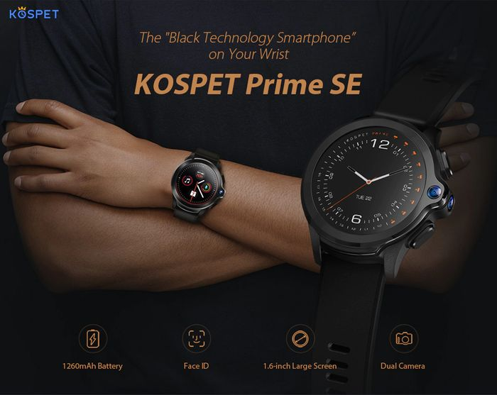 Prime SE Face ID Dual Cameras 4G Smartwatch