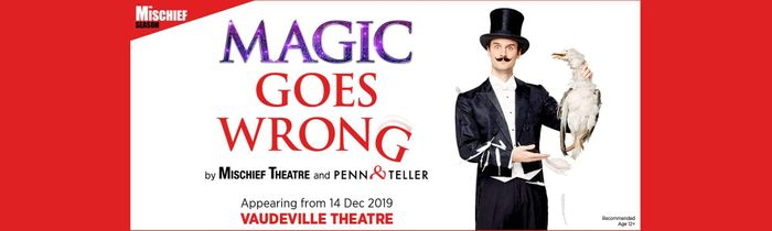 Magic Goes Wrong at the Vaudeville Theatre, up to 39% Off