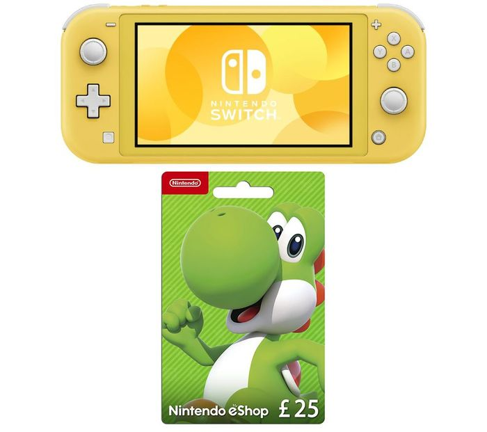 NINTENDO Switch Lite & eShop £25 Gift Card Bundle - Yellow