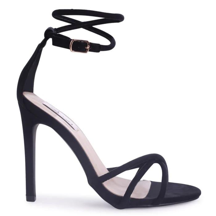 Black Suede Strappy High Heel
