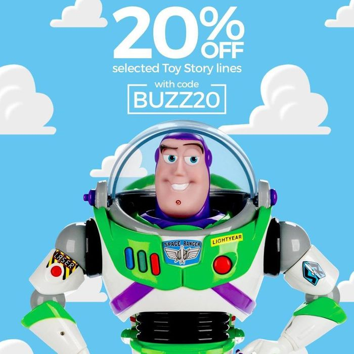 Get 20% off Selected Toy Story Products