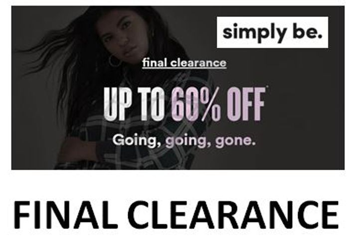 SIMPLY BE - PLUS SIZE & CURVE - FINAL CLEARANCE - up to 60% off!