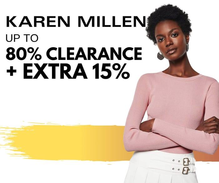 Special Offer - Karen Millen - up to 80% Clearance + Extra 15% Discount Code