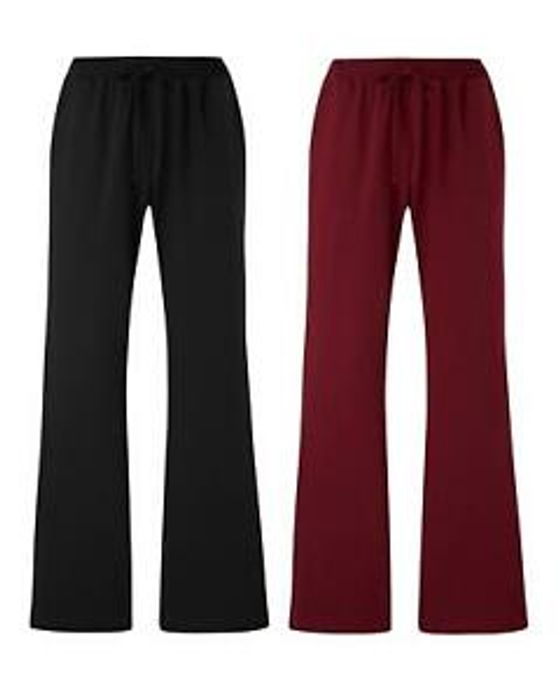 Pack of 2 Jersey Bootcut Trousers