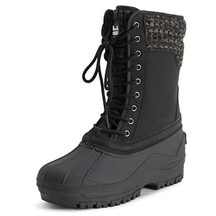 POLAR Muck Cuff Lace up Waterproof Duck Snow Winter Rain Black mid Calf Boots