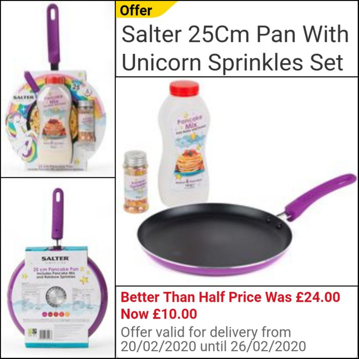 Salter 25Cm Pan with Unicorn Sprinkles Set