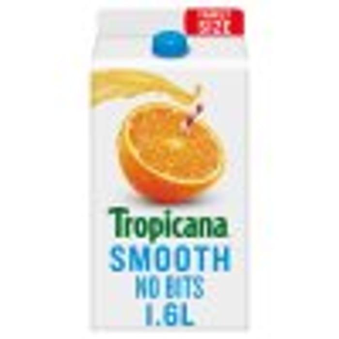 Tropicana Smooth Orange Juice 1.6L Half Price