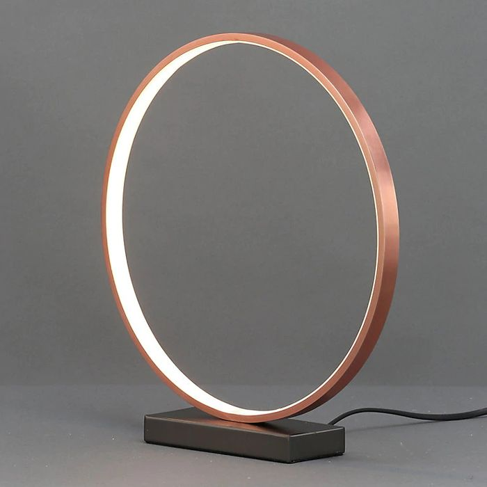 Ring Copper Effect LED Table Lamp