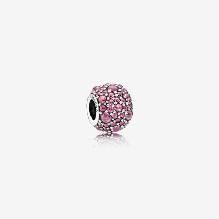 Honeysuckle Pink Shimmering Droplets Charm