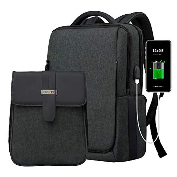 40% off Beschoi 15.6 Inch Laptop Backpack with USB Charging Port,