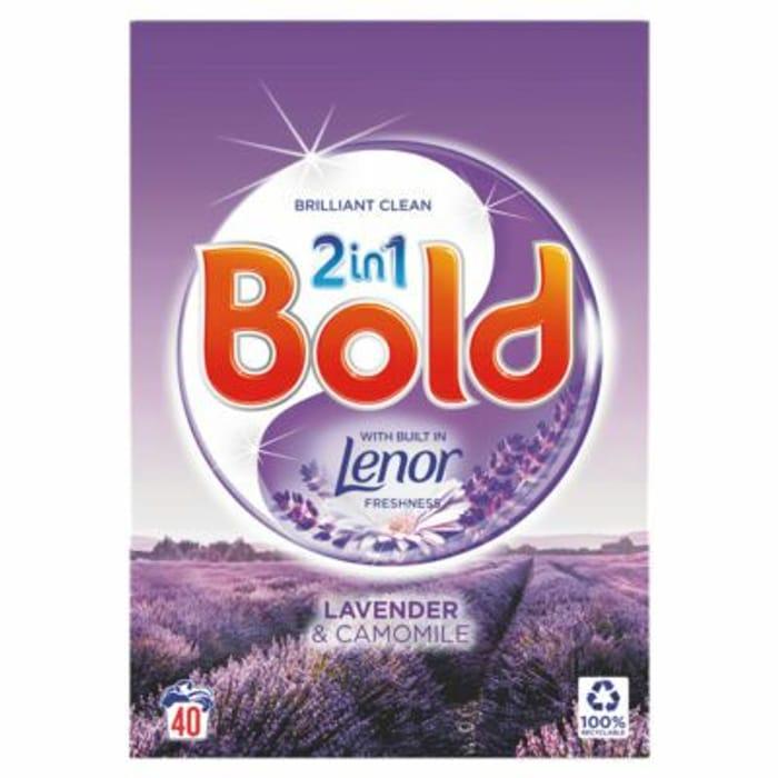 Bold 2in1 Washing Powder Lavender & Camomile (40 Washes)