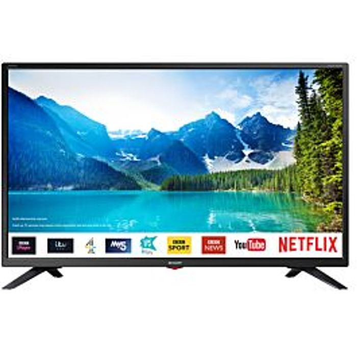 *SAVE £40* Sharp 32 Inch HD Ready LED Smart TV with Freeview Play