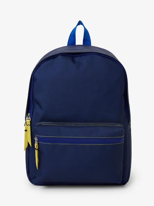 John Lewis & Partners Colour Block Backpack, Blue