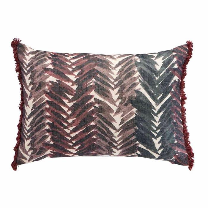 Wilko Herringbone Cushion Brown 50 X 35cm